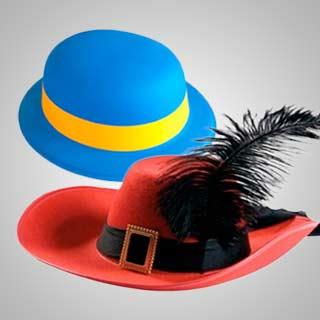 Seccion Accesorios Despedidas Sombreros y Diademas